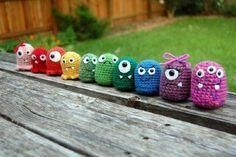 Tuto Amigurumi : les petits monstres (porte-clés)