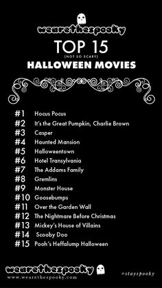 Wearethespooky's Not So Scary Halloween Movie List - :: we are the spooky ::
