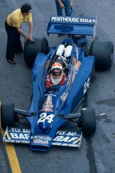 Rupert Keegan (GBR) (Penthouse Rizla Racing), Hesketh 308E - Ford-Cosworth DFV 3.0 V8  1977