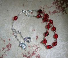 Phobos and Deimos Pocket Prayer Beads: Greek Gods of Fear and Terror, Sons of Aphrodite and Ares by HearthfireHandworks on Etsy