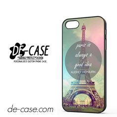 Paris Is Always Good Idea Audrey Hepburn DEAL-8473 Apple Phonecase Cover For Iphone SE Case