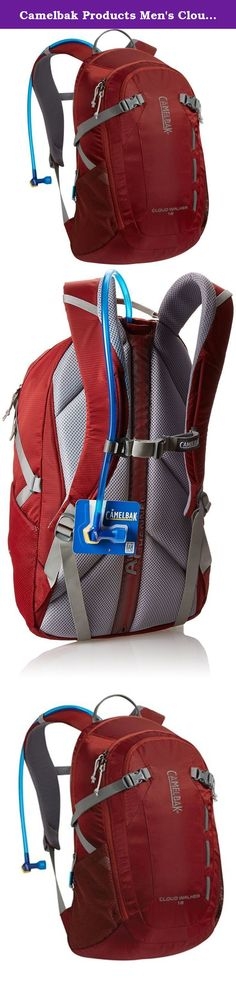Camelbak Products Men's Cloud Walker Hydration Pack, Sienna Red/Dark Red, 70-Ounce. For a full day out on the trail, our compact Cloud Walker 18 hiking pack sports a clean, technical aesthetic and features designed to keep you cool, hydrated and all your gear organized. The main compartment is accessed via an asymmetrical zipper that enables easy access and prevents cargo from spilling out when fully open. In addition to our industry-leading 2 liter Antidote Reservoir you get two mesh…