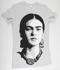 Frida Kahlo hand airbrushed with stencils.  made to order so any size ( S - 2xl ) available  Most of the t-shirts are 4.2 oz., 100% combed ringspun