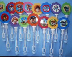 20 Paw Patrol party favor , mini bubble wands, Paw Patrol Birthday favors