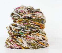 Everlasting 92 yards Wool Yarn-Hand Dyed-Merino Yarn- Handspun Plyed- Art Yarn-by Atomicblue Chunky awesome rustic spun wool. Look close and you Wool Yarn, Knitting Yarn, Knitting Patterns, Yarn Thread, Yarn Stash, Spinning Yarn, Hand Spinning, Yarn Bombing, Textiles