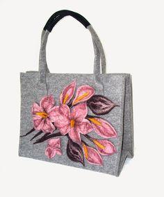 "Bags by Marta: Duża torba z filcu ""Justine"""