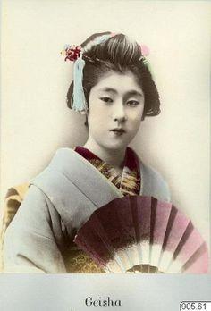 kvinna, porträtt, solfjäder, fotografi, photograph Hand Coloring, Geisha, Japanese, Sculpture, Statue, Art, Photography, Art Background, Japanese Language
