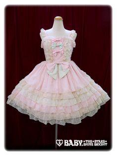Baby, the stars shine bright Fairy ribbon jumper skirt