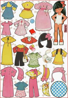 Paper dolls by Maria Pascual Cardboard Paper, Paper Toys, Vintage Playmates, Paper Art, Paper Crafts, Paper Puppets, Paper Dolls Printable, Dress Up Dolls, Vintage Paper Dolls