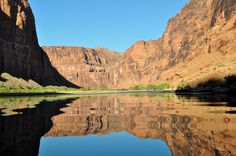 Colorado River rafting tour. My kind of float, nice and smooth. This is south of Glen Canyon Dam.