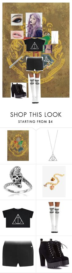 """""""Harry Potter Fangirl"""" by fallenangel889 ❤ liked on Polyvore featuring Tressa, Disney, Warner Bros. and NIKE"""