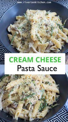 Cream Cheese Pasta Sauce, Quick Pasta Sauce, White Sauce Pasta, Pasta Sauce Recipes, Cream Cheese Chicken, Chicken Pasta Recipes, Pasta Recipes Using Cream Cheese, Alfredo With Cream Cheese, Sauces For Pasta