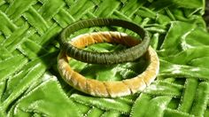 Country Rustic Bracelets Bangles Green Fall by RomanticallyVintage, $7.00
