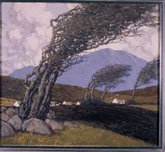 Buy online, view images and see past prices for PAUL HENRY RHA RUA < br> Wind Blown. Invaluable is the world's largest marketplace for art, antiques, and collectibles. Irish Painters, Ireland Landscape, Irish Art, Art Studies, Landscape Paintings, Landscapes, Tree Art, View Image, Art Photography