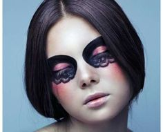 lace dark makeup mask ideas | Lace Mask Makeup