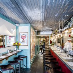 There's a definite fresh from the sea coastal feel to the dining area of Ceviche from its washed out blue boards, but the real inspiration comes from the bohemian, artistically-minded Lima neighbourhood of Barranco...