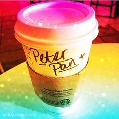 Faith, trust & lattes. Disney Starbucks character cups gallery - Peter Pan