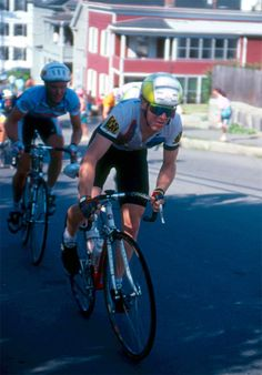 Me, racing in Biddeford, ME in 1990! (not shown, but beating all of us was an also very young Lance Armstrong)