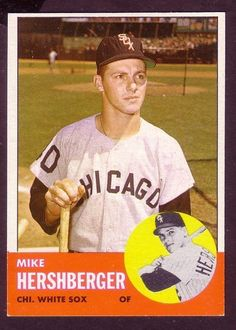 1963 TOPPS MIKE HERSHBERGER CARD NO:254 MH24 NEAR MINT CONDITION #baseballMLB