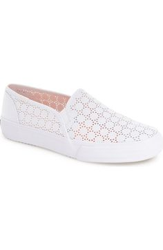 Keds® 'Double Decker' Perforated Slip-On Sneaker (Women) available at #Nordstrom