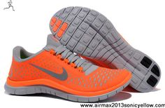 Buy Latest Listing Womens 511495-801 Nike Free 3.0 V4 Total Orange Reflective Silver Pro Platinum Shoes Store