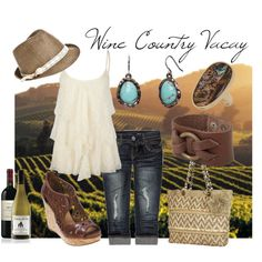A fashion look from March 2012 featuring Full Tilt tops, Almost Famous and Miz Mooz shoes. Browse and shop related looks. Napa Valley Style, Napa Style, My Style, Country Attire, Country Outfits, Country Fashion, Farm Fashion, Travel Fashion, Women's Fashion