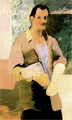 art,gorky,1937,autoportrait