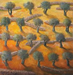Sliman Mansour Arabic born 1947 is a Palestinian painter considered an important figure among contemporary Palestinian artists Mansour i Sharjah, Vision Art, Olive Tree, Art Education, Oil On Canvas, Contemporary Art, Foundation, Illustration, 1980