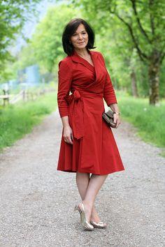 Winser London Red Wrap Dress