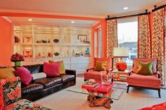 DECORATING WITH CORAL COLOR #coraldecor #interiordesign #coralcolor
