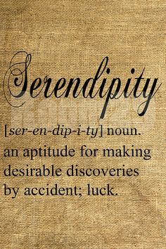 Serendipity- My favorite word A happy accident the word I am going to have tatted around my left hip bone :))
