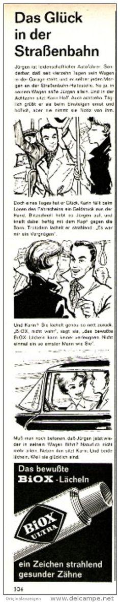 Original-Werbung/Inserat/ Anzeige 1960 - BIOX ULTRA ZAHNPASTA - Ca. 45 X 280 Mm - Werbung