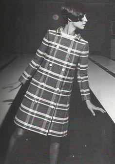 Mod coat fashion, 1965.