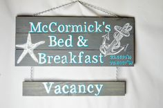 Beach wood sign personalized, Reversible Vacancy Sign, personalized sign, beach house sign,  beach sign, wood sign, hand painted, beach by Artfulcastle on Etsy