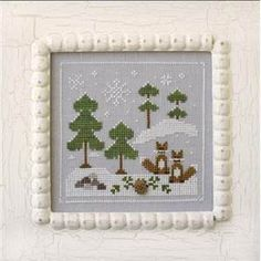 Frosty Forest - Snowy Foxes - Country Cottage Needleworks