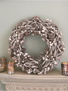 Frosty Hedgerow Winter Wreath