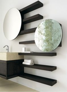 Solid Ash Wood Bathroom Furniture from CA d'Oro - Fontane collection is strong but refined