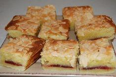 Bakewell Jam Slice A lovely pastry base and light sponge with raspberry jam. Sweet Recipes, Cake Recipes, Kiwi Recipes, Yummy Treats, Sweet Treats, Recipe Treats, Bakewell Tart, Bakewell Traybake, Biscuit Recipe