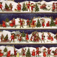 Image result for early designs of victorian christmas wrapping paper