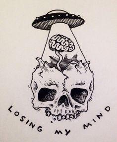 Tatto Ideas & Trends 2017 - DISCOVER skull alien tattoo Discovred by : lydie vanackere Alien Drawings, Cool Drawings, Tattoo Drawings, Drawing Sketches, Tumblr Drawings, Small Drawings, Alien Tattoo, Skull Art, Alien Skull
