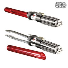 "I believe I must acquire a pair of these.  ""Why fight Jedi when you can grill the perfect BBQ meal using these 'Star Wars' Lightsaber Tongs?"""