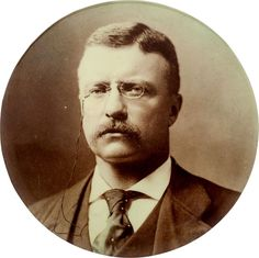 Vintage Theodore Roosevelt Large Celluloid Button - 1904