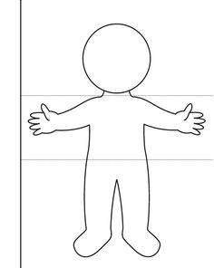 Fabric Doll Pattern, Fabric Dolls, Paper Dolls, Hand Outline, Body Outline, All About Me Preschool, Preschool Art, Printable Preschool Worksheets, Coloring Pages Inspirational