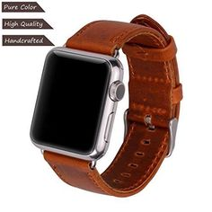 Apple Watch Series 3 Band 38mm iWatch Genuine Leather Replacement Strap L Brown  #Xixc