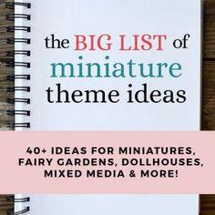 Miniature Dollhouse Notebook DIY Tutorial & F Diy Doll Miniatures, Dollhouse Miniature Tutorials, Halloween Miniatures, Miniature Crafts, Diy Dollhouse, Miniature Houses, Notebook Diy, Miniture Dollhouse, Craft Activities For Kids