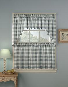 Rowan Plaid Kitchen Curtains / Curtainworks.com