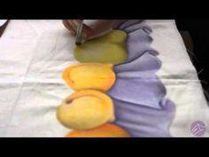 Pintura em tecido Eliane Nascimento: Retocando a pintura - YouTube