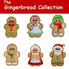 Gingerbread Machine Embroidery Designs