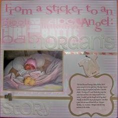 From a Sticker to an Angel: Morgan's Story - Scrapbook.com