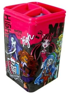 MONSTER HIGH - POT A #CRAYONS ET #STYLOS - NEUF - LICENCE MATTEL #MonsterHigh